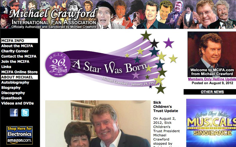 Michael Crawford - Official Site